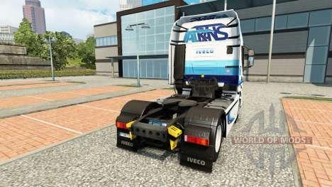 Скин Ital trans на тягач Iveco для Euro Truck Simulator 2