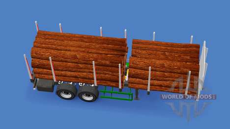 Полуприцеп лесовоз для American Truck Simulator