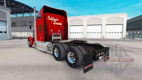 Скин California Dreamin на тягач Kenworth W900 для American Truck Simulator