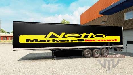 Скин Netto на полуприцеп для Euro Truck Simulator 2