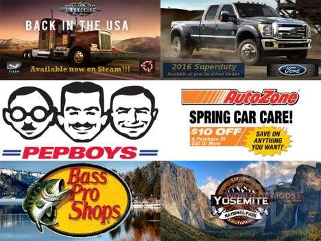 Новая реклама на билбордах для American Truck Simulator