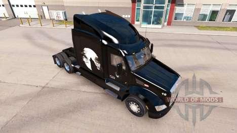 Скин Wolf на тягач Peterbilt для American Truck Simulator