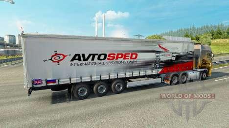 Скин Avtosped на полуприцеп для Euro Truck Simulator 2