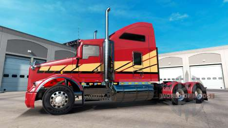 Скин Stripes v2.0 на тягач Kenworth T800 для American Truck Simulator
