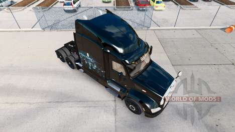 Скин Iron Skyline на тягач Peterbilt для American Truck Simulator