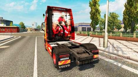 Скин Manchester United на тягач Volvo для Euro Truck Simulator 2