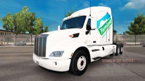 Скин Farmland на тягач Peterbilt для American Truck Simulator