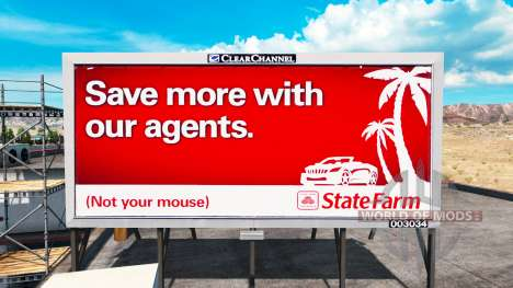 Реклама США на билбордах для American Truck Simulator
