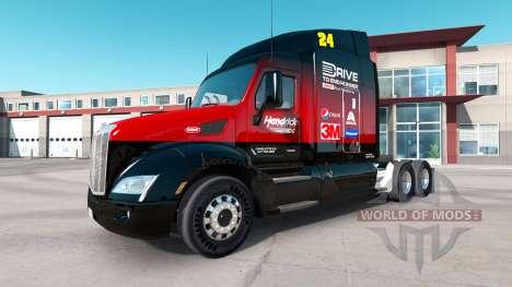 Скин Hendrick на тягач Peterbilt для American Truck Simulator
