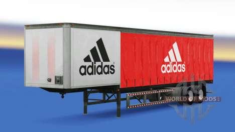 Скин Adidas на полуприцеп для American Truck Simulator