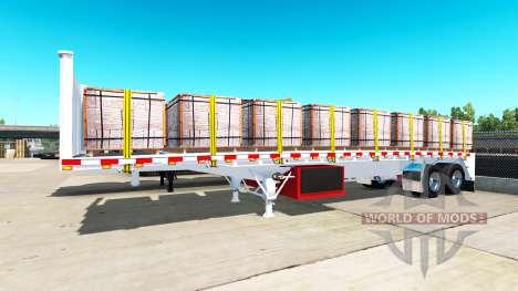 Сборник полуприцепов-площадок для American Truck Simulator