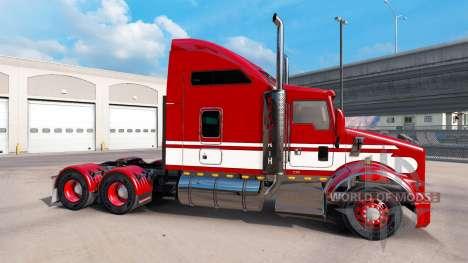 Скин Red-white на тягач Kenworth T800 для American Truck Simulator