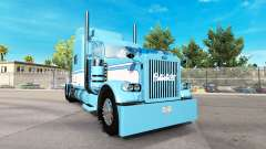 Скин Light Blue-White на тягач Peterbilt 389