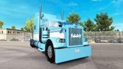 Скин Light Blue-White на тягач Peterbilt 389