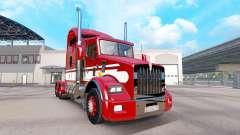 Скин Red-white на тягач Kenworth T800