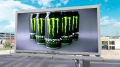 Реклама Monster Energy на билбордах