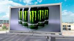 Реклама Monster Energy на билбордах