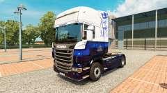 Скин Blue V8 на тягач Scania