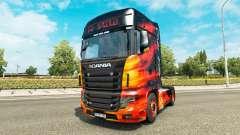 Скин Cool Fire на тягач Scania R700