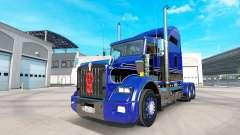 Скин Blue-black на тягач Kenworth T800