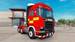 Скин Fire Truck на тягач Scania R730