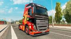 Скин Manchester United на тягач Volvo