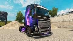 Скин Black & Purple на тягач Volvo