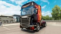 Скин Fire Girl на тягач Scania