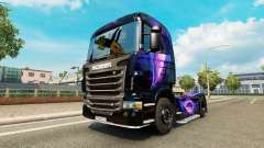 Скин Black and Purple на тягач Scania