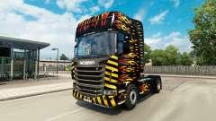 Скин Flame на тягач Scania