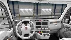 Белый интерьер Kenworth T680