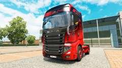 Скин Black & Red на тягач Scania R700