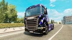 Скин Blue Ladder на тягач Scania