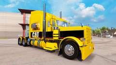 Скин CAT на тягач Peterbilt 389