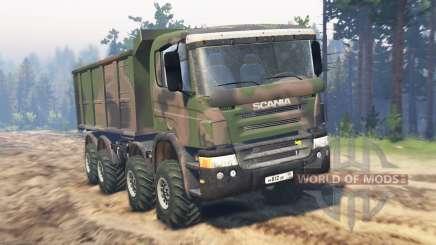 Scania Timber 8x8 для Spin Tires