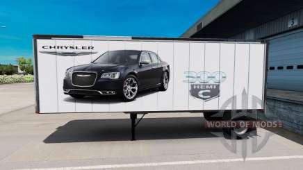 Скин American Cars на полуприцеп для American Truck Simulator