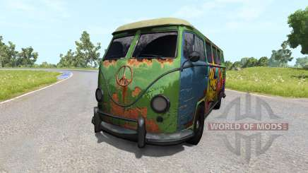 Volkswagen Transporter Bulli для BeamNG Drive