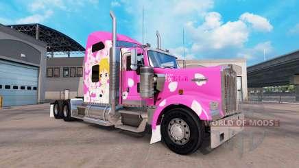 Скин Sakura на тягач Kenworth W900 для American Truck Simulator