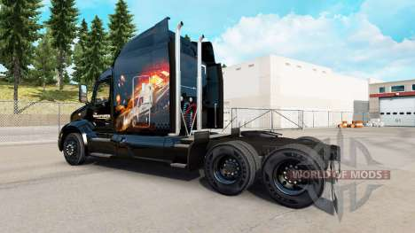 Скин The Transporter на тягач Peterbilt для American Truck Simulator