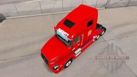 Скин Averitt Express на тягач Volvo VNL 670 для American Truck Simulator