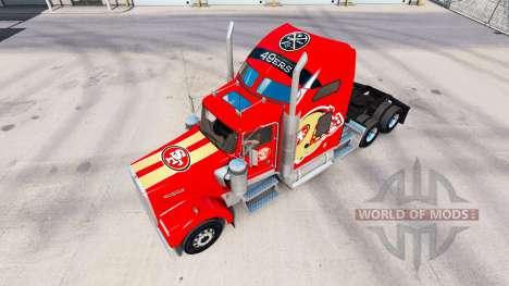 Скин San Francisco 49ers на тягачи Pet и Ken для American Truck Simulator