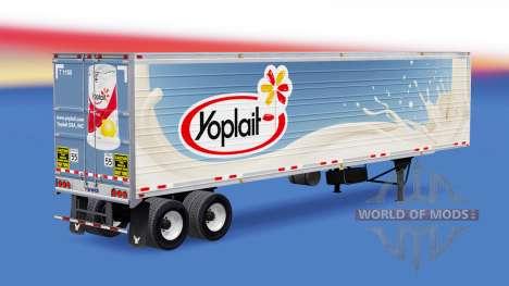 Сборник скинов на полуприцепы v1.2 для American Truck Simulator