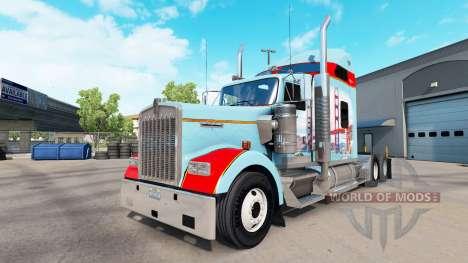 Скин San Francisco  на тягач Kenworth W900 для American Truck Simulator