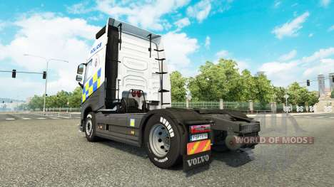 Скин Police на тягач Volvo для Euro Truck Simulator 2