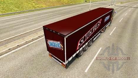 Скин Snickers на полуприцеп для Euro Truck Simulator 2