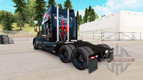 Скин The Witcher Wild Hunt на тягач Peterbilt для American Truck Simulator