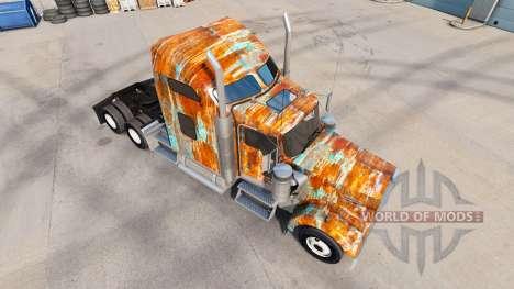 Скин Rust на тягач Kenworth W900 для American Truck Simulator