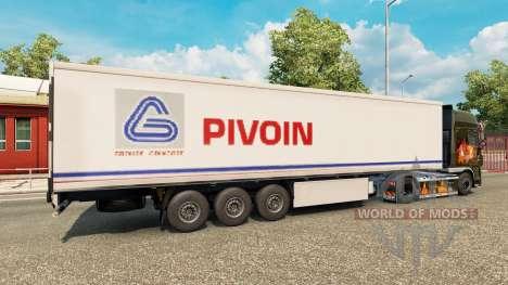 Скин Pivoin на полуприцеп для Euro Truck Simulator 2