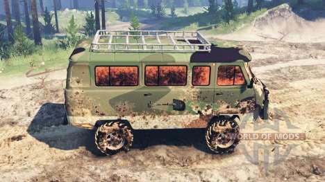 УАЗ-2206 v2.0 для Spin Tires