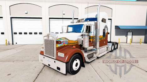 Скин Hatd Truck на тягач Kenworth W900 для American Truck Simulator